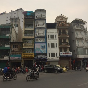 Narrow buildings Hanoi